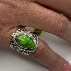 Artisan Crafted Mojave Green Turquoise Ring